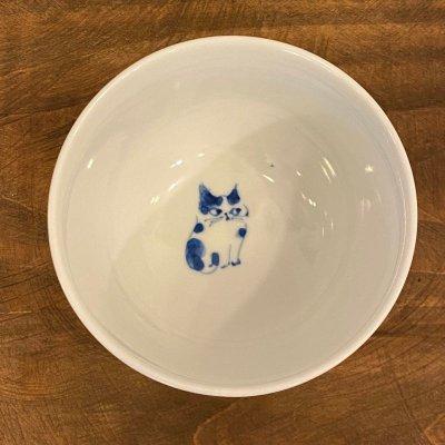 画像1: 九谷焼 茶碗(染付)